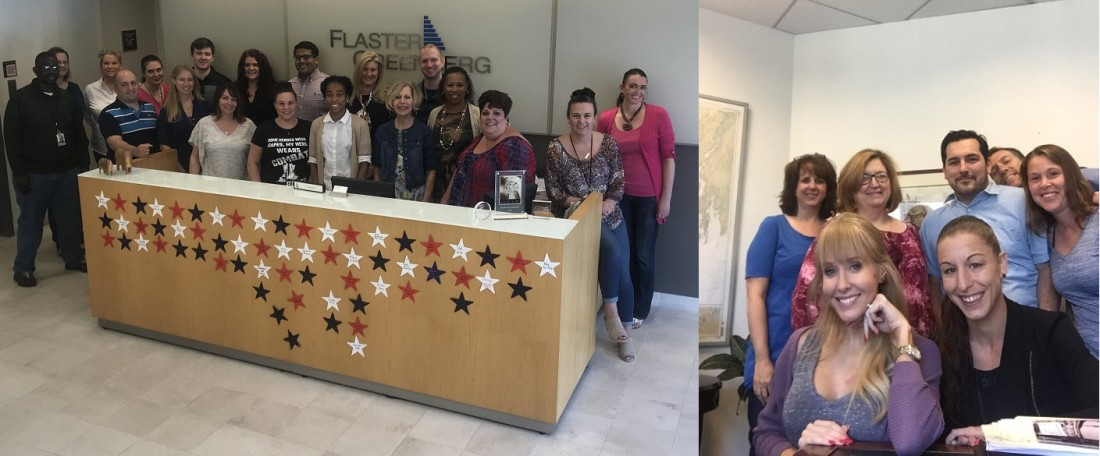 Flaster Greenberg employees participate in Jeans for Troops Day.